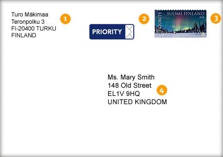 Kirjeen Lähettäminen Ulkomaille