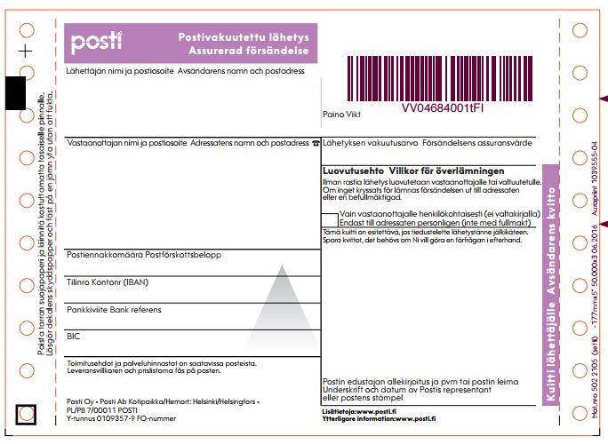 cash on delivery cod address label
